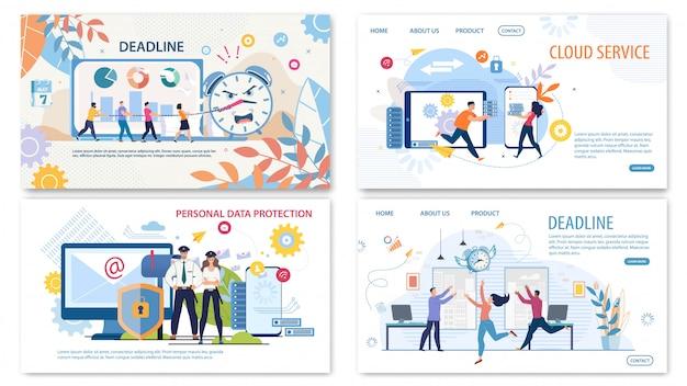 Zestaw banerów internetowych uruchamiania firmy