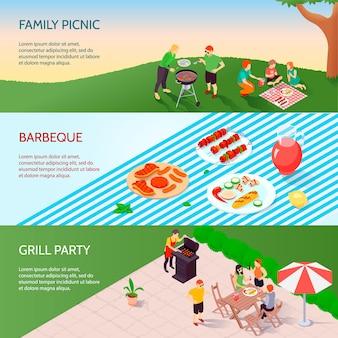 Zestaw banerów izometrycznych grill party