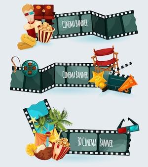 Zestaw banerów kinowych