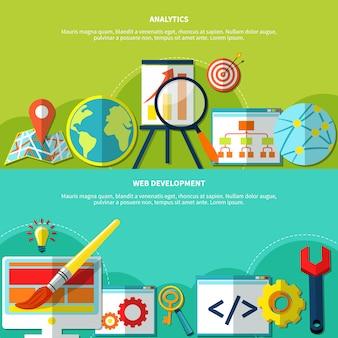 Zestaw banerów marketingu online