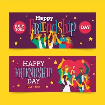 Zestaw banerów międzynarodowego dnia przyjaźni