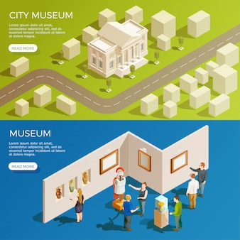 Zestaw banerów miejskiego muzeum