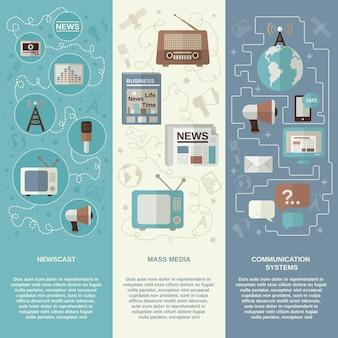 Zestaw banerów multimedialnych