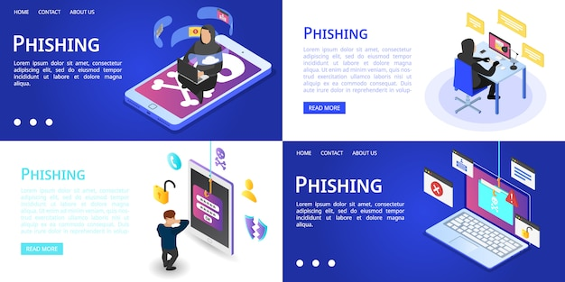 Zestaw banerów phishingowych