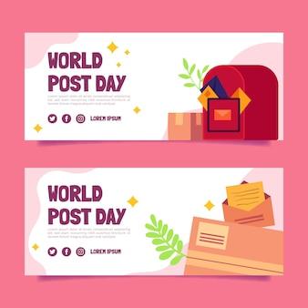 Zestaw banerów płaski światowy dzień postu