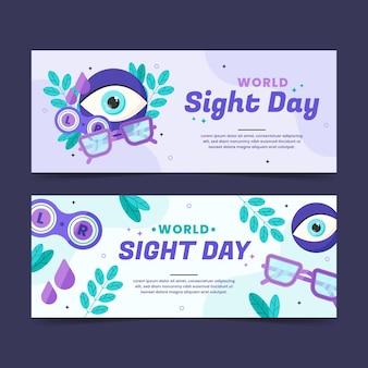 Zestaw banerów płaskich światowych dni wzroku