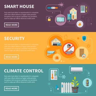 Zestaw banerów poziome smart house