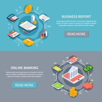 Zestaw banerów ruchu finansowego