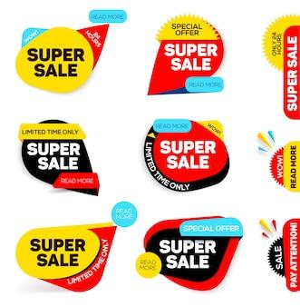 Zestaw banerów super sale