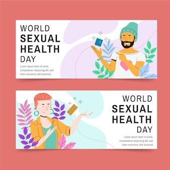 Zestaw banerów światowego dnia zdrowia seksualnego