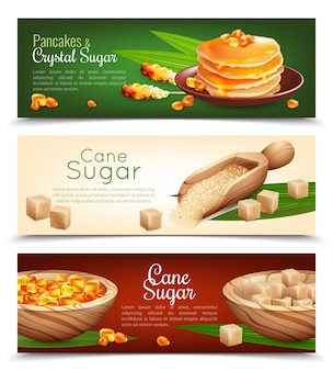 Zestaw banerów trzciny cukrowej