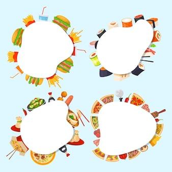 Zestaw banerów żywności