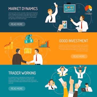 Zestaw banery poziome przedsiębiorcy
