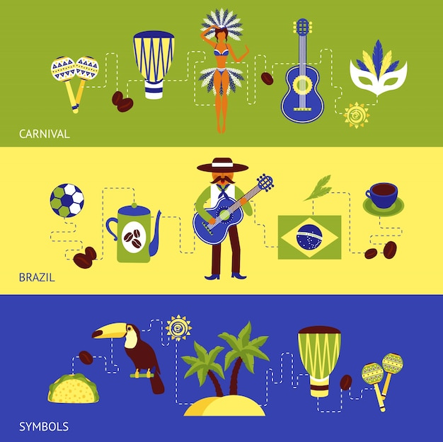 Zestaw banner brazylia
