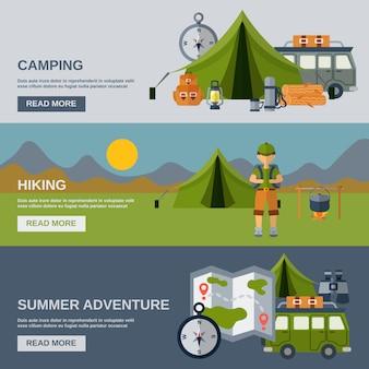 Zestaw banner camping