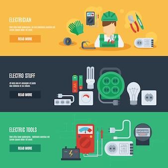 Zestaw Banner energii elektrycznej