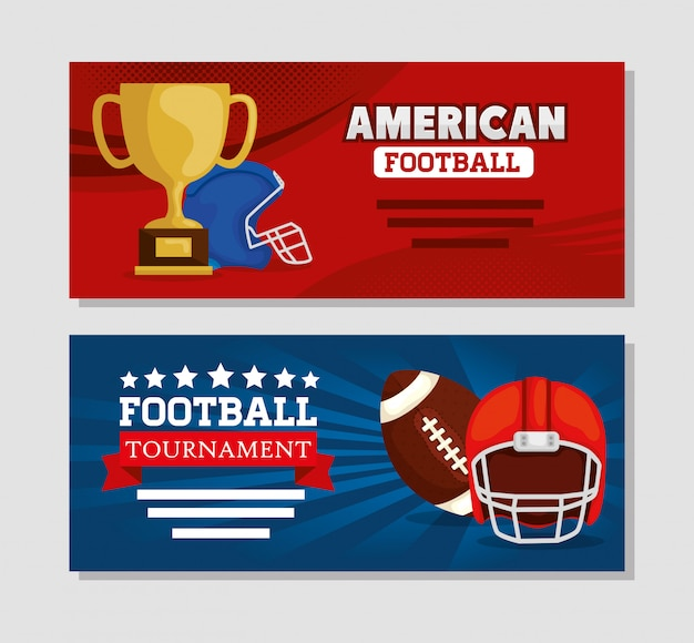 Zestaw banner futbolu amerykańskiego