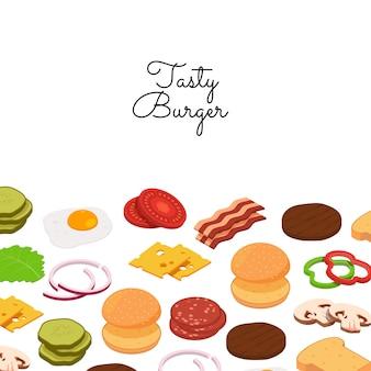 Zestaw banner składników burger