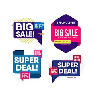 Zestaw banner sprzedaż duży, szablon nowoczesnego projektu.