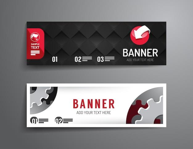 Zestaw banner szablon wektor design.graphic lub układ strony internetowej vector.can może służyć do infografiki.