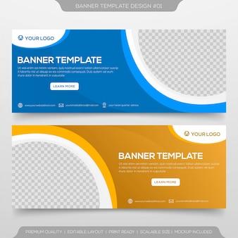 Zestaw banner szablonu projektu