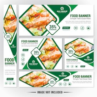 Zestaw banner web food dla restauracji