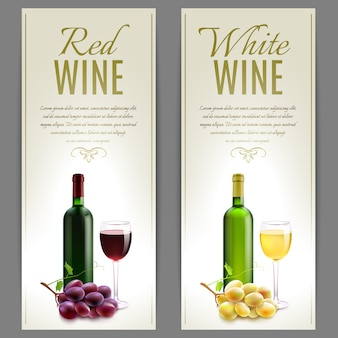 Zestaw banner wina