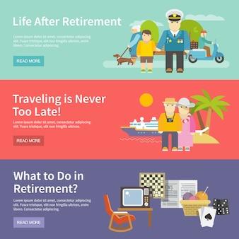 Zestaw banner życie emerytów