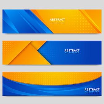 Zestaw bannerów abstrakcyjnej koncepcji