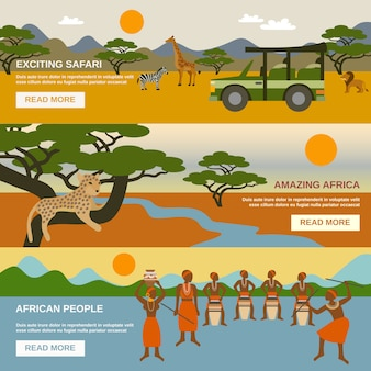 Zestaw bannerów afrykańskich