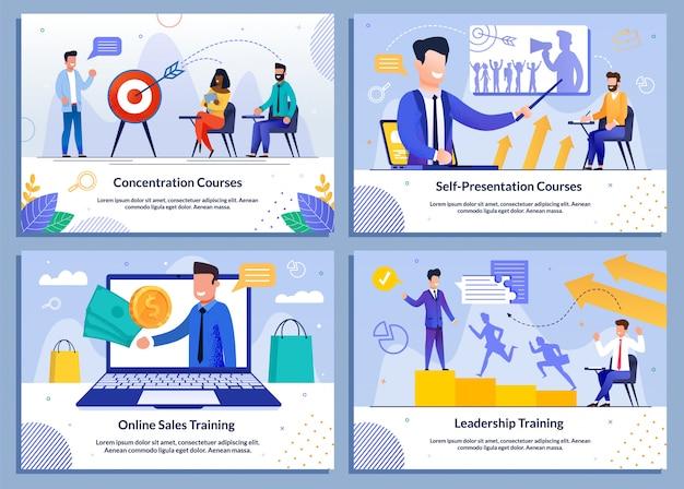 Zestaw bannerów biznesowych dla rozwoju firmy