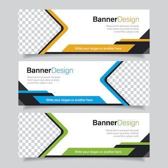 Zestaw bannerów biznesowych