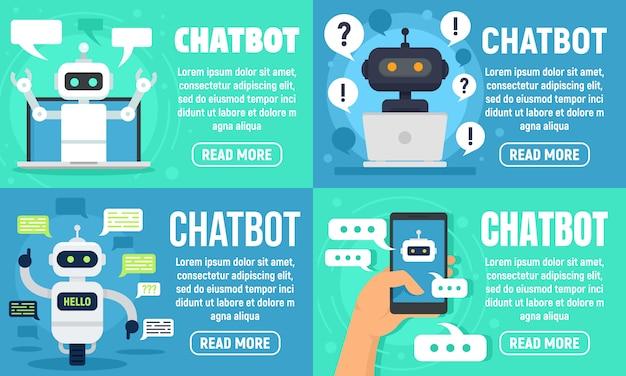 Zestaw bannerów chatbot