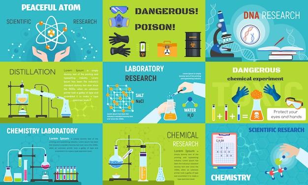 Zestaw bannerów chemii