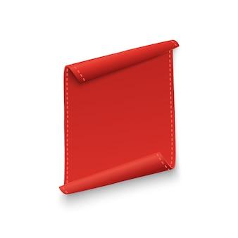 Zestaw bannerów czerwoną wstążką na białym tle.
