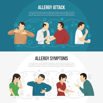 Zestaw bannerów dla alergików