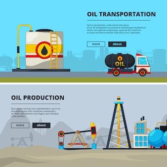 Zestaw bannerów dla przemysłu naftowego