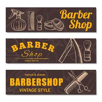 Zestaw bannerów dla zakładów fryzjerskich