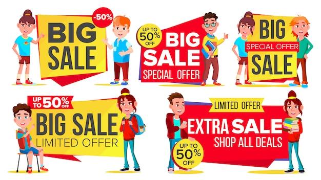 Zestaw bannerów duża sprzedaż