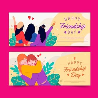 Zestaw bannerów dzień międzynarodowej przyjaźni