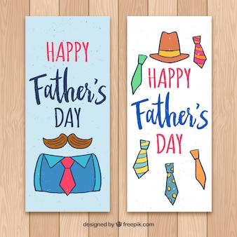 Zestaw bannerów dzień szczęśliwy ojca z więzi