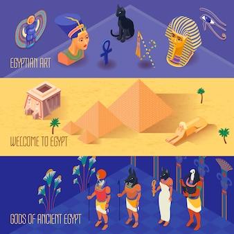Zestaw bannerów egiptu