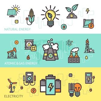 Zestaw bannerów energetycznych