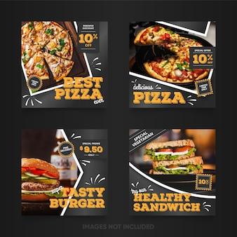 Zestaw bannerów fast food