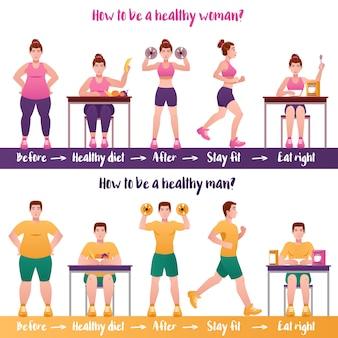 Zestaw bannerów fitness