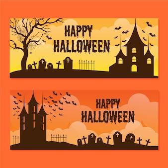 Zestaw bannerów halloween