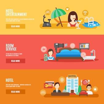 Zestaw bannerów hotelowych