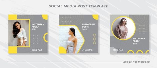 Zestaw bannerów instagram moda minimalna