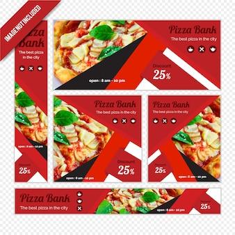 Zestaw bannerów internetowych dla restauracji