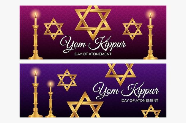 Zestaw bannerów jom kippur